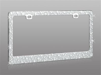Free Caps I LOVE NEW YORK supreme chrome metal license plate frame
