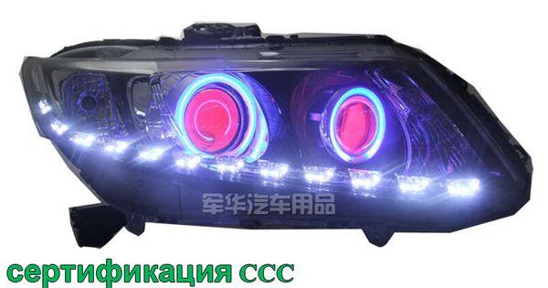 Hireno Modified Headlamp For Honda Civic 2012 2014 Headlight Assembly Car Styling Angel Lens Beam Hid Xenon 2 Pcs Honda Civic 2012