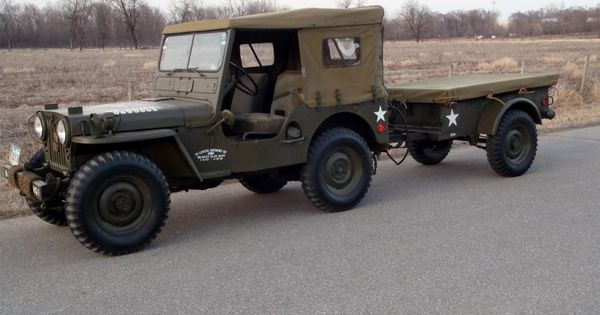 US Army 1951 Willys MC M38 Jeep (with canvas top cover on