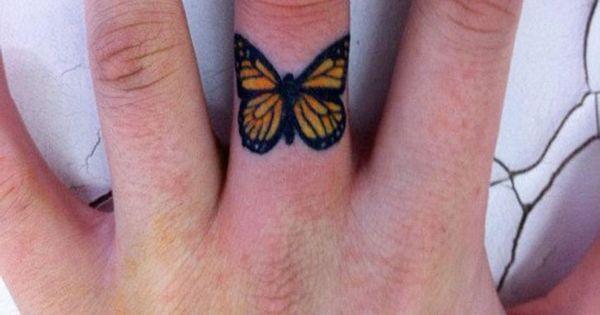 Butterfly Finger Tattoo Idea Tattoo Men Ideas Tattoos I Like Pinterest Finger Butterfly