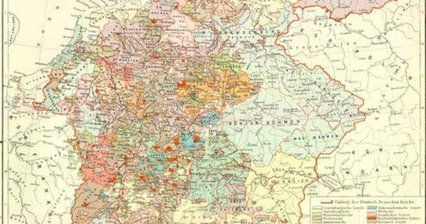 mittelalter karte deutschland Deutschland im Mittelalter, Karte   Karte deutschland