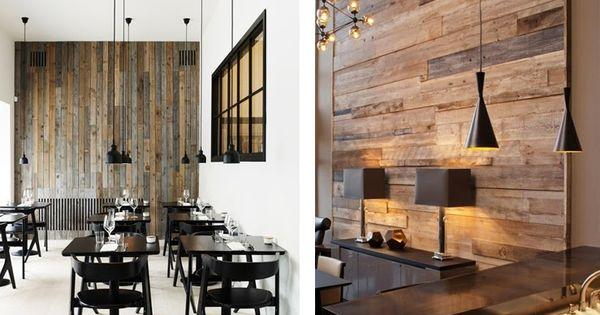 Revestimientos de madera reciclada inspiraci n espacios - Revestimiento de interiores ...