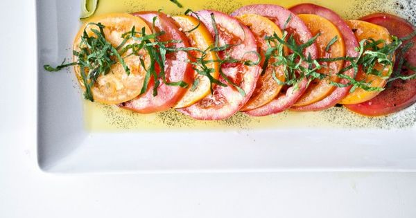 easy delicious: tomatoes with vanilla and mint, perfect for a baguette ...