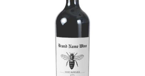 Minimalist Honey Bee Sweet Wasp Vine Ripened Wine Label Zazzle Com Bridesmaid Wine Label Wedding Wine Labels Wine Label Gold