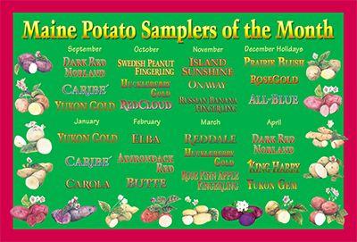 Enjoy A New Potato Adventure Every Month Month Club Potato Varieties Pound Gift