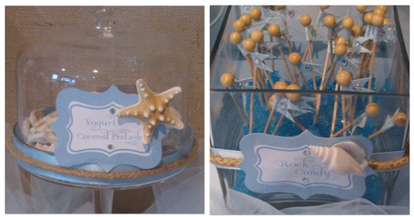 Beach Themed Candy Buffet For Bridal Shower By The Candy
