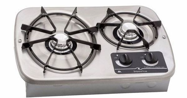 Atwood Dv20s Drop In 2 Burner Propane Cooktop 56494 Stainless Gas Stove Top Propane Camp Stove Cook Top Stove