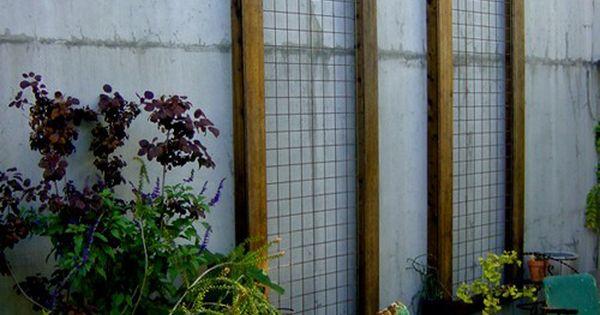 Trellis Option Above Garage Use Hogwire Trellis To Create