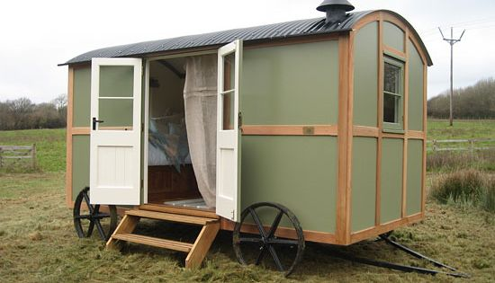 Welcome to the shepherd 39 s hut company manufacturers of the finest mobile timber cabins vardo - The mobile shepherds wagon ...
