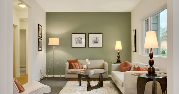 Bright Sage Green Paint Technique Seattle Transitional