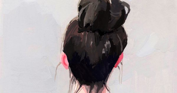 "In love with artist Elizabeth Mayville's ""Top Knot"" series... design illustration"