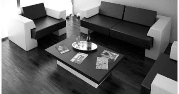 Cómo Decorar el Living Room en Blanco y Negro : La Sala y Comedor ...