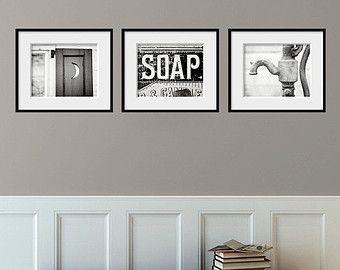 Bathroom Decor Set Of 3 Photographs Bathroom Art Set Rustic Bathroom Decor Vintage Shabb Shabby Chic Bathroom Wall Decor Shabby Chic Bathroom Chic Bathrooms