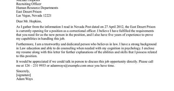 detention officer resume cover letter http www