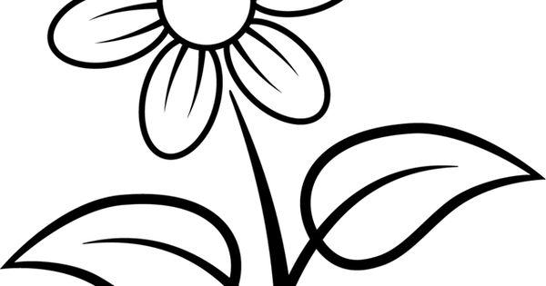 Fleur colorier la nature les fleurs coloriage imprimer une fleur simple ab h - Colorier une fleur ...