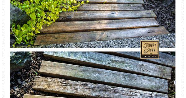Pallet wood walkway. pallet walkway