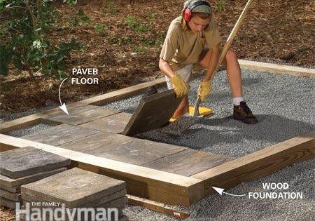 Tips For Building A Storage Shed Concrete Slab Concrete