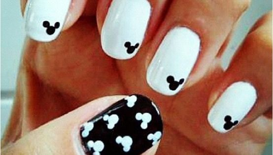 Mickey mouse nails- I think Emmy's head would explode with excitement if