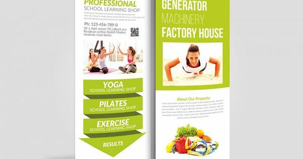Health Fitness Rack Card Template 154404 Card Making Design Bundles Rack Card Templates Rack Card Rack Cards Design