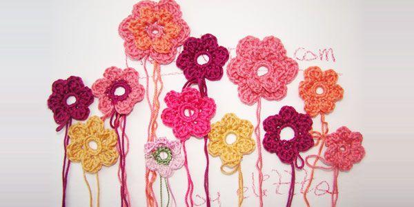 Blumen häkeln – ganz einfach! | Handarbeiten | Pinterest | Blumen ...