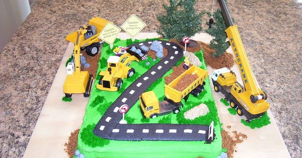 Construction Toys For 2 Year Olds : Boys construction cakes zone buttercream