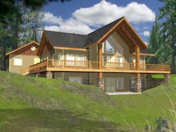 House Plan 039 00160 Lake Front Plan 3 304 Square Feet 2 Bedrooms 3 Bathrooms Basement House Plans Lake House Plans Rustic House Plans