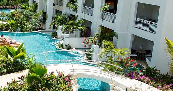 Swim Up Suites Along Barbados Longest Lagoon Pool At