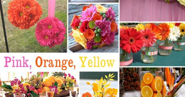 Click to Enlarge - Pink, Orange, Yellow Color Story Ideas