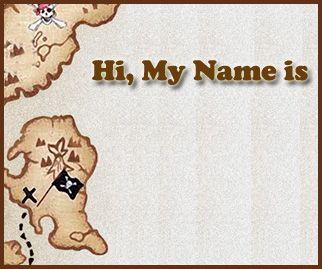 Free Printable Pirate Theme Name Tags