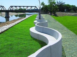 Park Seating Concrete Curve Google Search Arredo Urbano Panchine Parco Urbano