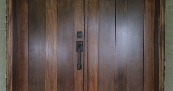 Douglas Fir Entry Door Stained And Finished Exterior