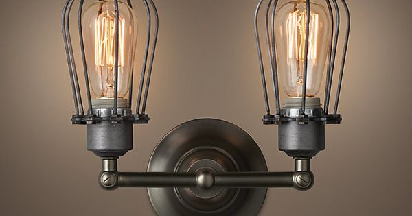 marconi small cage sconce aged steel we ve 87961