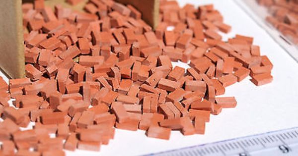 300 Pcs Of Real Miniature Brick O Ho Scale Modeling Diorama Scenery Building Miniatures Dept 56 Christmas In The City Miniature Pottery