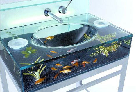 Fish tank sink! Coolest kids bathroom idea ever!