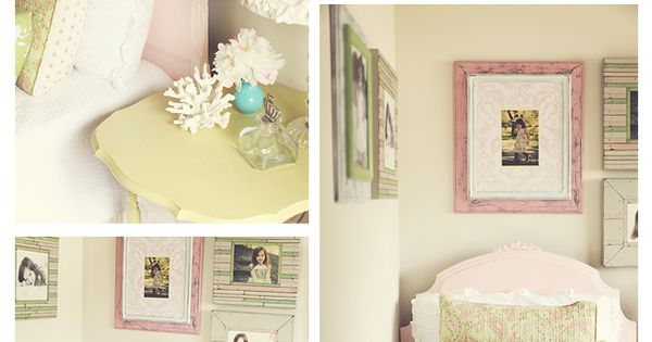 Girly pink and green bedroom || The Savvy Photographer