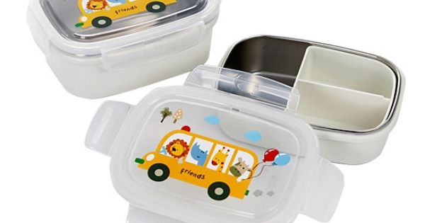bento lunch boxes stainless steel for kids square box insulated bag 2 pieces set ebay for. Black Bedroom Furniture Sets. Home Design Ideas