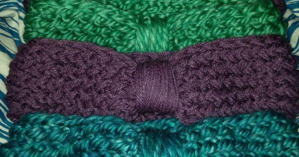 Straight Knitting Loom Scarf Pattern : Loom knit earwarmers from straight loom with figure eight stitch Loom knitt...