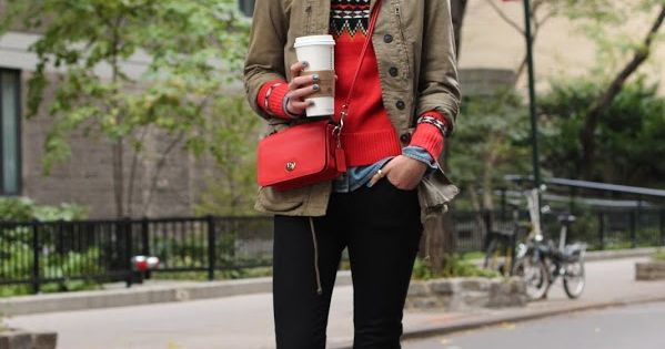 layered winter outfit