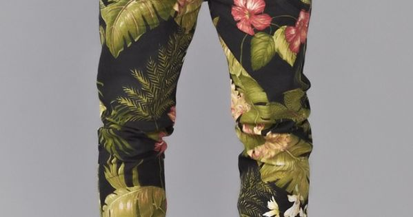 Cool trousers. floral mens fashion women