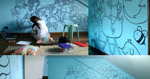 Wouldn't you get more grounded for drawing on the walls? I love
