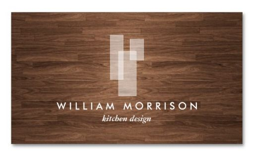 Modern Architectural Logo and Customizable Business Card - for Architects, Kitchen Designers,