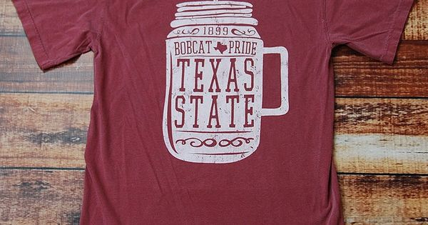 Show your texas state bobcat pride in this awesome comfort for Custom t shirts san marcos tx