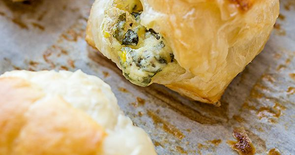 Check out Puff Pastry Spinach Cheese Bites with Tomato Caramelized ...
