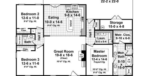 country house plan 59936 total living area 1640 sq ft 3 bedrooms and 2 bathrooms the. Black Bedroom Furniture Sets. Home Design Ideas