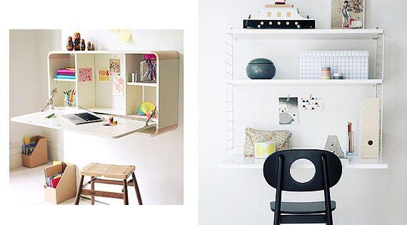 Escritorios de pared para espacios peque os home ideas - Escritorios para espacios reducidos ...