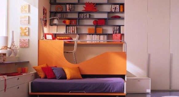 Best tv rooms for children tags berloni bunk beds - Best colour for study room ...