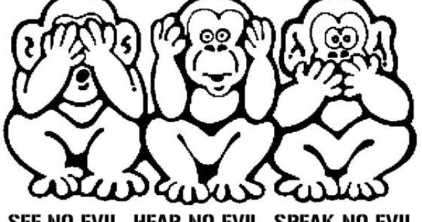Hear No Evil See No Evil Speak No Evil Monkey Tattoos Google Search Monkey Drawing Monkey Tattoos Evil