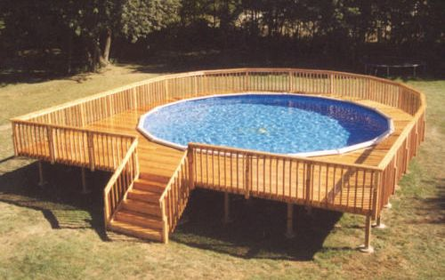 34 X 37 Walk Around Pool Deck For A 27 Pool Gardening