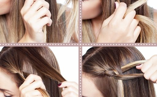 one sided braid tutorial hair style braids cute