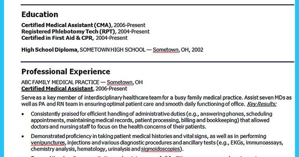 awesome Writing Your Assistant Resume Carefully, Check more at - patient care tech resume